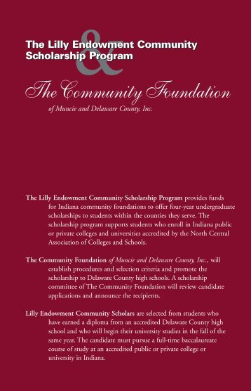 The Community Foundation of Muncie & Delaware County