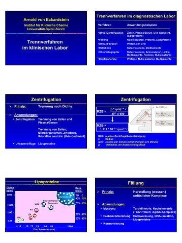 pdf, 813 KB - Institut für Klinische Chemie - UniversitätsSpital Zürich
