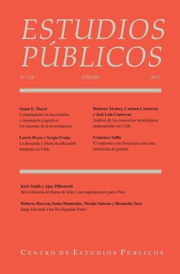 Estudios Públicos, 126. Revista de políticas públicas - Centro de ...