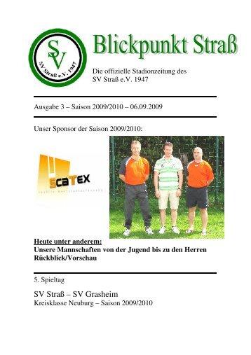 Stadionzeitung Blickpunkt Straß 2009_09_06