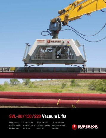 SVL-90 / 130 / 220 Vacuum Lifts - Worldwide Machinery