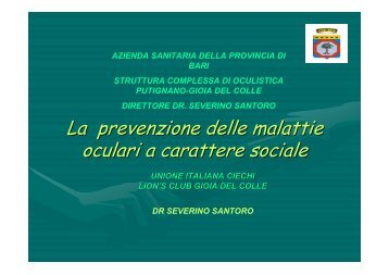 9_La prevenzione delle malattie oculari a carattere ... - ABCsalute.it