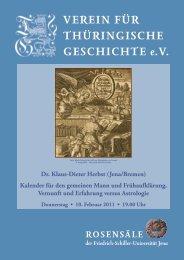 Dr. Klaus-Dieter Herbst - Verein für Thüringische Geschichte