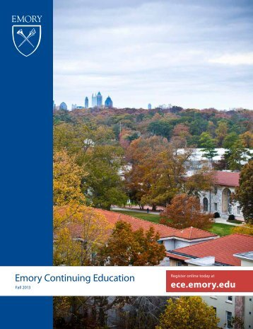 ECE Catalog View ECE Course Catalog - Emory Continuing ...