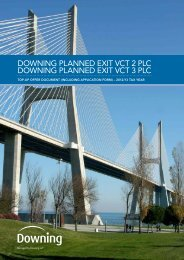 downing planned exit vct 2 plc downing planned exit ... - Clubfinance