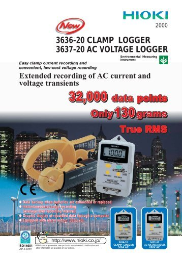 3636-20 CLAMP LOGGER / 3637-20 AC VOLTAGE ... - ASM GmbH