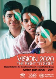 Vision 2020 - World Health Organization