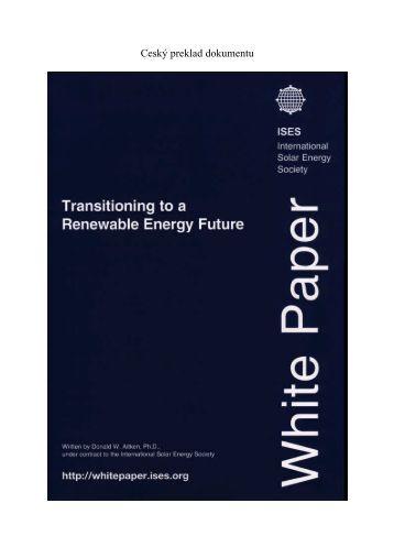 Bílá kniha - ISES White Paper - ISES International Solar Energy ...