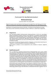 Kooperationsprojekt NAWI Graz Curriculum für ... - mibla.TUGraz.at