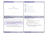 Teil X Anfragen an Data Warehouse Anfragen an DW Einführung ...