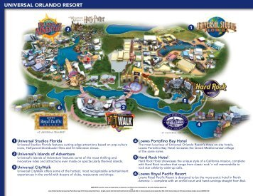 Islands of Adventure Fact Sheet Universal Orlando Resort Media Site
