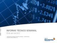 Diapositiva 1 - Investigaciones Económicas - Bancolombia