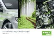 Fahren mit Erdgas/Biogas: Personenwagen März 2013 - Erdgasfahren