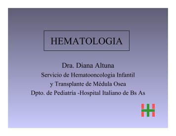 RN plaquetopénico. Dra. Diana Altuna