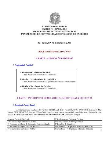 31 Mar 00 - 2ª ICFEx - Exército Brasileiro