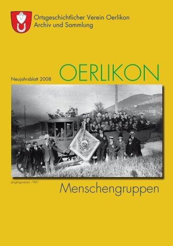 Menschengruppen - Ortsgeschichtlicher Verein Oerlikon