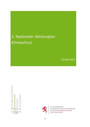 2. Nationaler Aktionsplan Klimaschutz - Ministère du ...