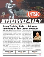 Army Training Fails to Address 'Enormity of the Urban Problem'