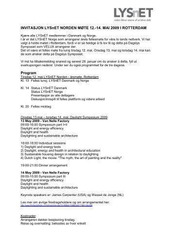 INVITASJON LYSnET NORDEN MØTE 12.-14. MAI 2009 I ...