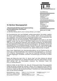 Tagungsbericht 16. Berliner Steuergespräch (PDF-Format)