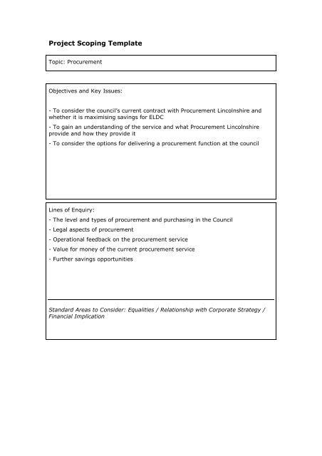 Procurement Project Scoping Template , item 11  PDF 38 KB