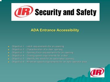 ADA Entrance Accessibility - Access Hardware Supply