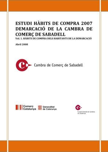 Estudi d'hàbits de consum 2007 - Cambra de Comerç de Sabadell