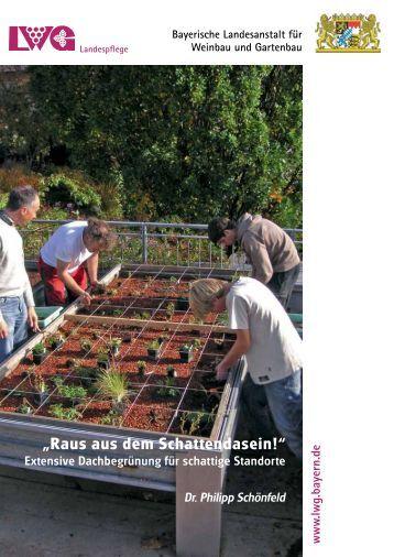 Extensive Dachbegrünung für schattige - Bayerische Landesanstalt ...