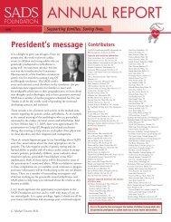 2005 Annual Report - SADS Foundation