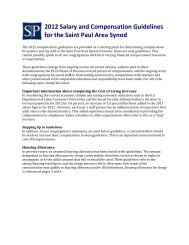 Salary and Compensation Guidelines - Saint Paul Area Synod