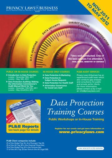 Data Protection Training Courses - Privacy Laws & Business