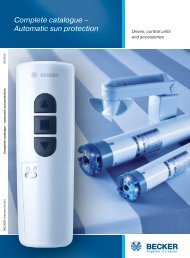 Complete catalogue – Automatic sun protection - Becker-Antriebe