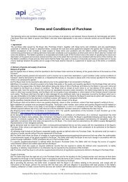 Standard Terms and Conditions of Sale - SST