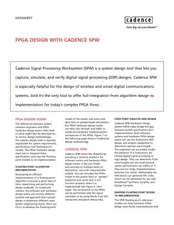 fpga design with cadence spw - Cadence - Cadence Design Systems
