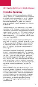 state of the child in bridgeport - Bridgeport Child Advocacy Coalition - Page 3