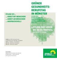 Grüner Gesundheitsberufetag - Grüne Münster