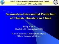Seasonal-to-Interannual prediction of Climate Disastersin China