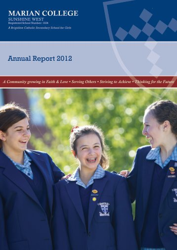 Annual School Report 2012 - marian college