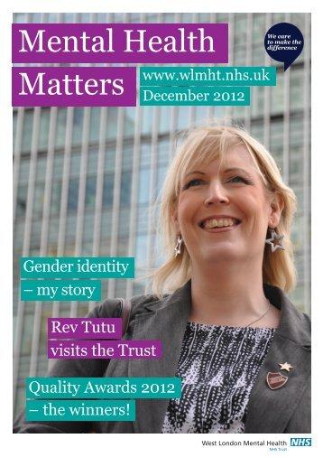 MHM December 2012 - West London Mental Health NHS Trust