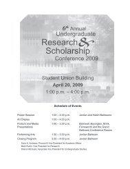 2009 Conference Program - Academics - Boise State University