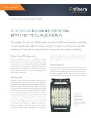 Infinera DTN ™ Switched WDM System