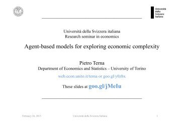 Agent-based models for exploring economic complexity