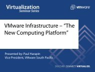 "VMware Infrastructure – ""The New Computing Platform"""