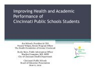 Health Centers Update 6-11-2012 - Cincinnati Public Schools
