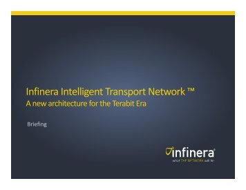 Intelligent Transport Network for Network Operators - Infinera