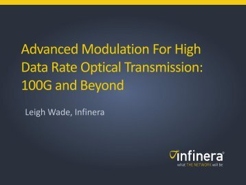 Advanced Modulation For High Data Rate Optical ... - Infinera
