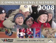 Community Events Calendar 2008 - City of Mount Pearl