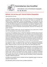 Nr. 48, Mai 2011 - AK Geographie und Geschlecht