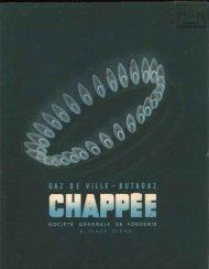 CHAPPEE, gaz de ville et butagaz : catalogue 1950 - Ultimheat