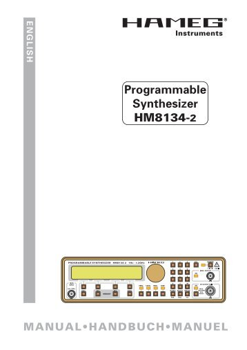 Manual for HM8134-2 as PDF HERE